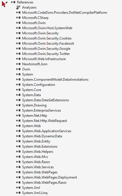 Kompletna lista referencji w projekcie